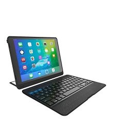 "ZAGG Rugged Book Pro – Magnetic-Hinged Bluetooth Keyboard and Case for Apple iPad Pro 9.7"" – Black"