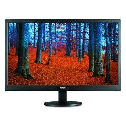 AOC e2460Sd 24-Inch Widescreen LED-Lit Monitor, Full HD 1080p, 5ms, 20M:1 DCR, VGA/DVI, VESA