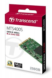 Transcend 256GB SATA III 6Gb/s MTS400 42 mm M.2 SSD Solid State Drive (TS256GMTS400S)