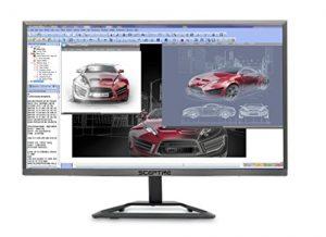 Sceptre E248W-1920R 24 Inch Ultra Thin 1080p 75Hz LED Monitor HDMI VGA, Metal Black 2018