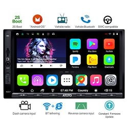 [NEW] ATOTO A6 2DIN Android Car Navigation Stereo with Dual Bluetooth – Standard A6Y2710SB 1GB+16GB Car Entertainment Multimedia Radio,WiFi/BT Tethering internet,support 256G SD &more