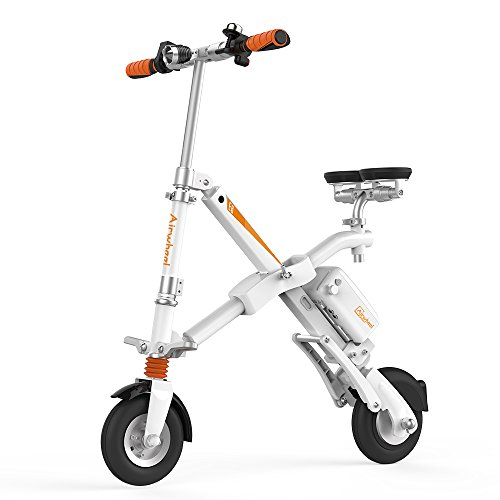 Airwheel E6 Foldable Electric Bicycle with Detachable Battery (White, 247.9Wh)