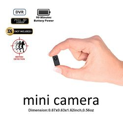 Fuvision Hidden Camera Mini DVR Tinny Size 1080P FHD Body-worn Camera Recorder Support 90 Minutes Continuous And Motion Detection Recording Camcorder Capture To 64GB Micro SD Card[Not included]
