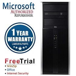 HP 16VFHPDT0366 8000 Business High Performance Tower Desktop Computer PC(Intel C2D E8400 3.0G,4G DDR3,320G,DVD,Windows 10 Professional), black