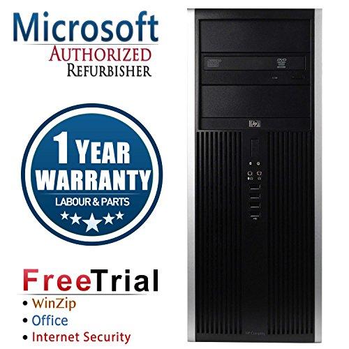HP 16VFHPDT0366 8000 Business High Performance Tower Desktop Computer PC(Intel C2D E8400 3.0G,4G DDR3,320G,DVD,Windows 10 Professional), black