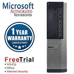 Dell CR16VFDEDT0531 OptiPlex Business High Performance Desktop PC (Certified Refurbished) (Intel Ci5 3470 3.2G,4G DDR3,1TB HDD,DVD-ROM,Windows 10 Professional) (Black)