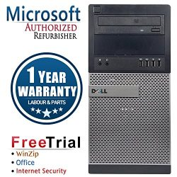 Dell CR16VFDEDT0589 OptiPlex Business High Performance Tower Desktop PC (Certified Refurbished) (Intel Ci3 3220 3.3G,4G DDR3,500G HDD,DVD-ROM,Windows 10 Professional) (Black)