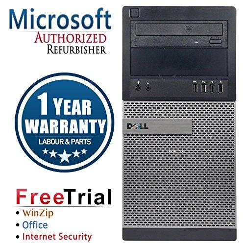 Dell CR16VFDEDT0589 OptiPlex Business High Performance Tower Desktop PC (Certified Refurbished) (Intel Ci3 3220 3.3G,4G DDR3,500G HDD,DVD-ROM,Windows 10 Professional) (Black)