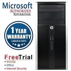 HP CR16VFHPDT0131 6200 Business High Performance Tower Desktop, Intel Core i5 2400 3.1G, 4G DDR3, 500G HDD, DVDRW, Windows 10 Professional, black