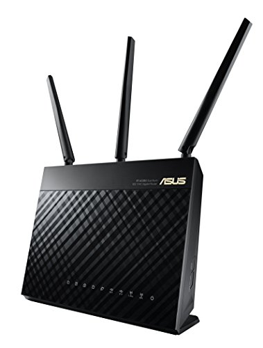 ASUS Whole Home Dual-Band AiMesh Router (AC1900) for Mesh Wifi System (Up to 1900 Mbps) – AiProtection Network Security by Trend Micro, Adaptive QoS & Parental Control (RT-AC68U)