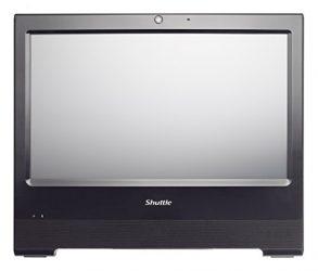 Shuttle XPC AIO X50V5 BLACK Intel Celeron 3855U Skylake All-In-One Barebone PC, Fanless, IP54 Certified, VESA compatible
