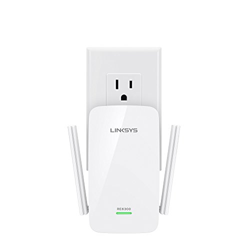 Linksys AC750 Boost Dual-Band Wi-Fi Gigabit Range Extender/Repeater (RE6300)