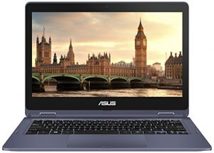 """ASUS VivoBook Flip 12 TP202NA-DH01T Thin and Lightweight 2-in-1 HD 11.6"""" HD Touchscreen Laptop, Intel Dual-Core Celeron N3350 up to 2.4GHz Processor, 4GB DDR 3 RAM, 32GB EMMC Storage, Windows 10 Home"""