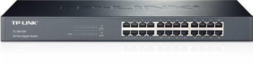 TP-Link 24-Port Gigabit Ethernet Unmanaged Switch | Plug and Play | Metal | Rackmount | Fanless | Limited Lifetime (TL-SG1024)