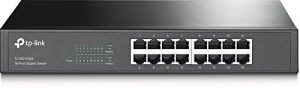 TP-Link 16 Port Gigabit Ethernet Network Switch | Fanless | Life Time Warranty| Plug-and-Play | Traffic Optimization | Desktop/Rackmount (TL-SG1016S)