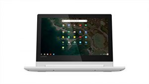 Lenovo Chromebook C330 2-in-1 Laptop – 11.6-Inch HD (1366 x 768) IPS, MediaTek MTK8173C Processor, MediaTek Integrated Graphics, 4GB LPDDR3, 64 GB eMMC 5.1, Chrome OS – 81HY0000US, Blizzard White