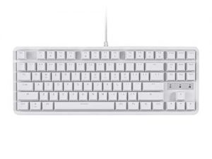 Monoprice Brown Switch Tenkeyless Mechanical Keyboard – White   Ideal for Office Desks/Workstations/ Tables – Workstream Collection