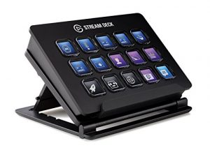 Elgato Stream Deck – Live Content Creation Controller with 15 Customizable LCD Keys, Adjustable Stand, for Windows 10 and macOS 10.11 or Later