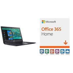 Acer Aspire 1 A114-32-C1YA, 14″ Full HD laptop with Microsoft Office 365 Home | 12-month subscription with Auto-renewal, up to 6 people, PC/Mac Download