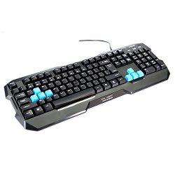 E-Blue EKM075BK Polygon Gaming Keyboard, Black