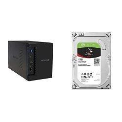 NETGEAR ReadyNAS RN212 2 Bay Cloud NAS,12TB Capacity, 1.4GHz Quad Core Processor, 2GB RA with 2X 1TB IronWolf NAS SATA 6Gb/s NCQ 64MB Cache 3.5-Inch Internal Hard Drive