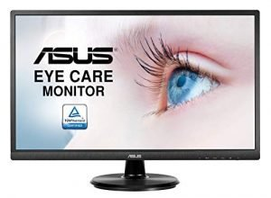 "ASUS VA249HE 23.8"" Full HD 1080P HDMI VGA Eye Care Monitor with 178° Wide Viewing Angle"