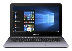 ASUS TP203NA-WB01T Vivo Book Flip 12 Thin and Light 2-in-1 Convertible Touchscreen Laptop Intel Dual-Core Celeron N3350 4GB RAM, 500GB HDD, Stay Grey