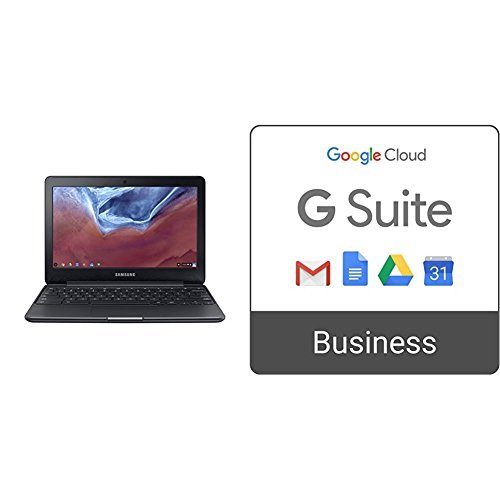 Samsung Chromebook 3 2GB RAM, 11.6″ Chromebook (XE500C13-K05US) + G Suite Business monthly subscription