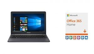 ASUS VivoBook E203MA Ultra Thin Laptop and Microsoft Office 365 Home