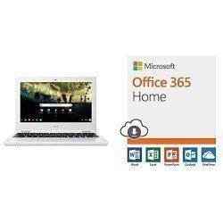 Acer Chromebook 11, Celeron N3060, 11.6″ HD, 4GB DDR3L, 16GB Storage, CB3-132-C4VV with Microsoft Office 365 Home  PC/Mac Download