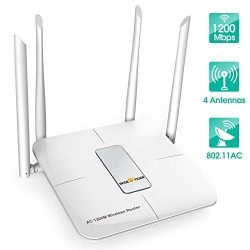 Wifi Router AC 5GHz Wireless Router Dual Band High Speed for Home Office Internet Gaming Works with Alexa