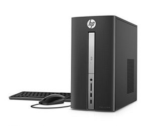 HP Pavilion Desktop Computer, AMD A9-9430, 4GB RAM, 1TB hard drive, Windows 10 (570-a118, Black)