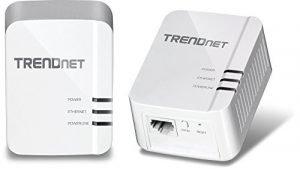 TRENDnet Powerline 1300 AV2 Adapter Kit, Includes 2 x TPL-422E Adapters, IEEE 1905.1 & IEEE 1901, Gigabit Port, Range Up to 300m (984 ft.), TPL-422E2K