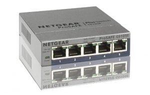 NETGEAR 5-Port Gigabit Smart Managed Plus Switch, ProSAFE Lifetime Protection (GS105Ev2)