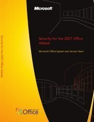Security for the 2007 Office release
