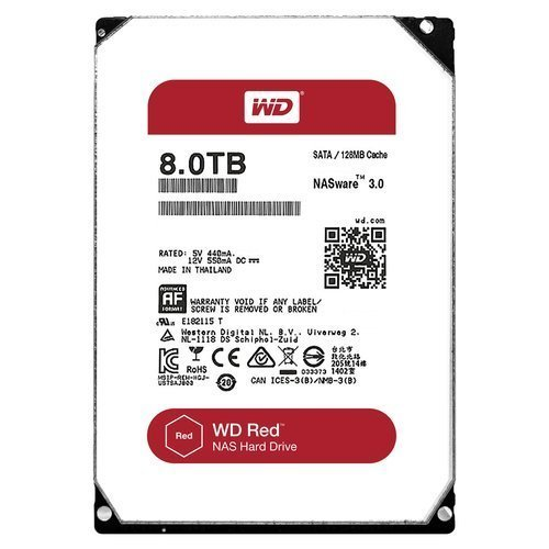 WD Red 8TB NAS Hard Disk Drive – 5400 RPM Class SATA 6 Gb/s 128MB Cache 3.5 Inch – WD80EFZX
