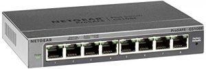 NETGEAR 8-Port Gigabit Ethernet Smart Managed Plus Switch (GS108Ev3) – Desktop, and ProSAFE Lifetime Protection