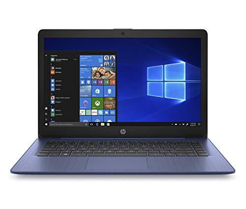 HP Stream 14-inch Laptop, AMD Dual-Core A4-9120E, 4GB RAM, 32GB eMMC Storage, Windows 10 S (14-ds0010nr, Blue)