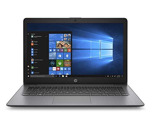 HP Stream 14-inch Laptop, AMD Dual-Core A4-9120E, 4GB RAM, 64GB eMMC Storage, Windows 10 S (14-ds0060nr, Black)