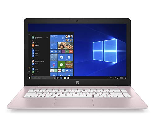HP Stream 14-inch Laptop, AMD Dual-Core A4-9120E, 4GB RAM, 64GB eMMC Storage, Windows 10 S(14-ds0160nr, Pink)