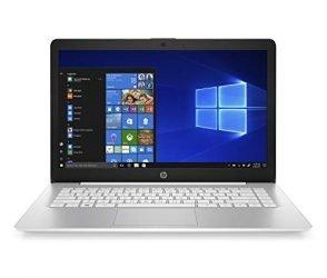 HP Stream 14-inch Laptop, AMD Dual-Core A4-9120E, 4GB RAM, 64GB eMMC Storage, Windows 10 S(14-ds0110nr, White)