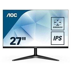 AOC 27B1H 27″ Full HD 1920×1080 monitor, 3-sided Frameless, IPS Panel, HDMI/VGA, Flicker-Free