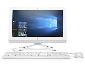 HP 20-inch All-in-One Computer, Intel Celeron J4005, 4GB RAM, 1TB Hard Drive, Windows 10 (20-c410, White) – 3KZ89AA#ABA