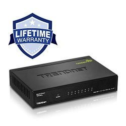 TRENDnet 8-Port Gigabit GREENnet Switch, Ethernet Splitter, Ethernet/Network Switch, 8 x 10/100/1000 Mbps Gigabit Ethernet Ports,16 Gbps Switching Capacity, Metal, Lifetime Protection, TEG-S82G