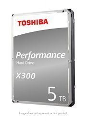 Toshiba X300 5TB Performance Desktop and Gaming Hard Drive 7200 RPM 128MB Cache SATA 6.0Gb/s 3.5 Inch Internal Hard Drive (HDWE150XZSTA)