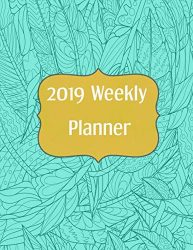2019 Weekly Planner: Aqua Feather (8.5 x 11) (Marketing, Business, Content Planner)