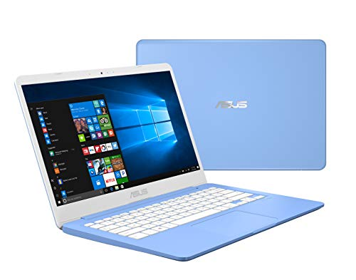 Asus Laptop L406 Thin and Light Laptop, 14″ HD, Intel Celeron N4000 Processor, 4GB RAM, 64GB eMMC Storage, Wi-Fi 5, Windows 10, Blue, L406MA-AB02-BL, One Year of Microsoft Office 365