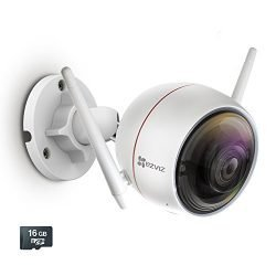 EZVIZ C3W / ezGuard 1080p – Wireless Wi-Fi Security Camera with Remote Activated Alarm System and Pre-Installed 16GB microSD Card