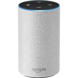 Echo (2nd Generation) – Smart speaker with Alexa and Dolby processing  – Sandstone Fabric