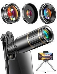copedvic phone camera lens phone lens for iphone samsung pixel android 22x telephoto lens 4k hd 0 67x super wide angle lens25x macro lens 205 fisheye lens work as telescope with metal 192x250 - 9 Best iPhone Accessories you Should Buy in 2020